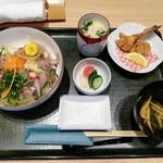 魚留 - アジたたき丼 1300円