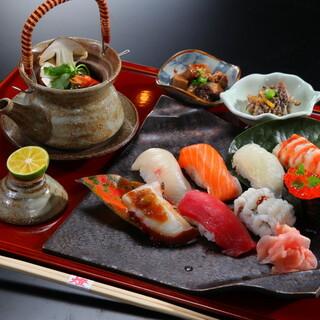 ◇にぎり寿司+土瓶蒸しセット