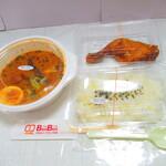お弁当とスープカレーのお店 BenBen - 揚げチキンスープカレー 1260円(税込)デフォ【2021年5月】