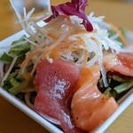 やさい家 咲くゑ - 鮮魚の和風カルパッチョサラダ(本日入荷のお魚料理)