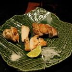 馬場六区 - 2012.9 シャモロック焼き合せ(1,029円)モモ肉、ムネ肉、ササミの3点盛り