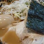 関西 風来軒 - とんこつラーメン+味タマ♪