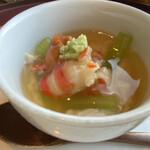 日本料理 みゆき - 雲丹 車海老 蕗 湯葉和え 山葵