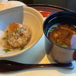 日本料理 みゆき - 浅利牛蒡おこわ イクラ 叩き木の芽 止椀