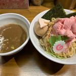 馳走麺 狸穴 - 特製つけ麺(味玉+具沢山)煮干しつけ汁