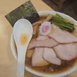 白河手打中華そば 中村 - 料理写真:チャーシューワンタン麺
