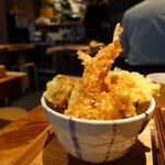 蕎麦前酒場 はんさむ - 天丼とお蕎麦御膳 1050円
