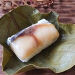 そうめん處 森正 - 柿の葉寿司(鯖)3個 480円(麺とセット価格)