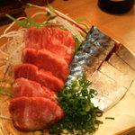 竹はる - 馬刺しと鯖の刺身