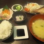 うみの華 - マグロのジャンボカマ焼定食