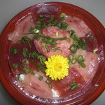 うみの華 - マグロの三種丼(お持ち帰り用)