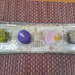 御室和菓子 いと達 - 早乙女 唐衣 ふうき 蕨餅