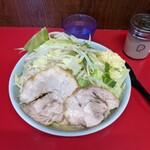 ラーメン二郎 - ラーメン小 にんにく、野菜