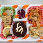 屋台DELi - <日替わりランチS>たれ漬チキンカツ+太刀魚レモンバターソース+豚キムチ炒め
