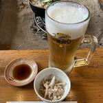 猪料理 やまおく - 生ビール(大)♡
