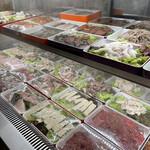 四川伝統火鍋 蜀漢 - 肉魚コーナー