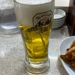 餃子の王将 - アサヒスーパードライ 生ビール(中)
