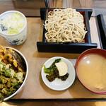 丸忠 - 「天丼セットの冷そば」1,150円税込み