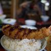 Katsugen - 料理写真:エビフライも大きいです。