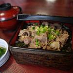 かつ源 - 【牛肉にんにく重】¥1000