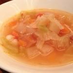 15102923 - ミネストローネ★あっさり美味しい。オイルを少し欲しい!