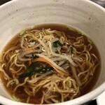 香蘭飯店 - 酢豚定食セットの半ラーメン