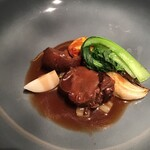 151040313 - ◆ Menu Saison ¥6,050                       Sanglier                       高知県大豊町より、猪とブラッドオレンジのプレゼ
