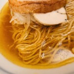 151048540 - 煮干そば 藍@神宮丸太町 煮干しそば スープ