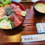 伊澤家 - マグロ&ハマチ漬け丼