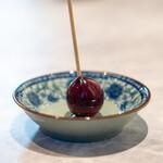 中国意境菜 白燕 - 燻  リンゴアメ