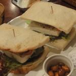豆腐room Dy's - この日のサンドは、アボカドのヘルシー豆腐サンド