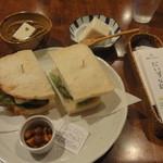 豆腐room Dy's - 豆腐サンドイッチセット \1,100