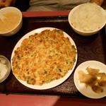 栄慶 - ニラとチャーシューの玉子炒め