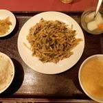 栄慶 - 豚肉と高菜炒め