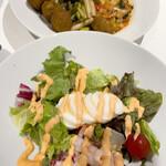 イケア・レストラン - ベジボールとシュリンプサラダ