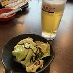 炭火焼 とり萬 - 生ビール