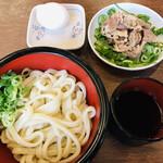 うどんの小麦冶 - 料理写真:肉玉うどん(冷) =418円 税込