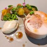 Bistro NOHGA  - 伊達鶏のバロティーヌに旬の野菜を添えて
