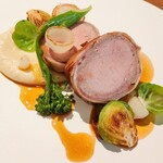 Bistro NOHGA  - 大田ベーコンで巻いた霧島豚フィレ肉のロースト
