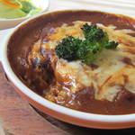 シダックス - 料理写真:ゆったりランチ:オーブン焼きチーズカレー:580円(ドリンク付き)