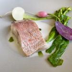 151124630 - 魚料理:甘鯛の蒸し上げ 地蛤の出汁