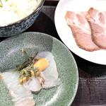 狐狸丸 - 鯛茶漬けと焼豚(イペリコ豚)