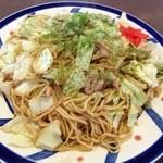 蛸八 - やきそば(たれ焼)(とり肉・大盛り)(¥700)