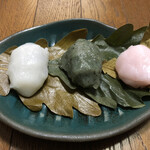 吉廼家 - 料理写真:柏餅(こしあん・つぶあん・みそあん)