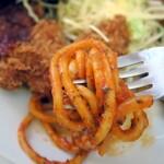 レストラン ベア - トルコライスにナポリタンを添えて長崎式に♪