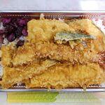 満天 - 料理写真:天丼+きす単品 1,188円 (満天)※構成は、大海老、イカ、レンコン、カボチャ、オクラ +きす。