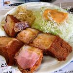 レストランばーく - 厚切りベーコンカツ定食