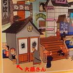 金久右衛門 - 地下には店外看板のカラーがございます。
