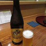 枯淡 - 瓶ビール ヱビス 715円 (2021.5)