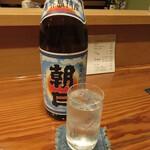 枯淡 - 黒糖焼酎 朝日 水割り 560円 (2021.5)